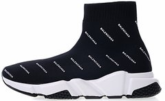 "Кроссовки Balenciaga Speed Trainer Logo ""Black/White"", 36"