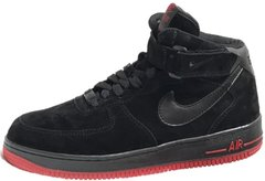"Зимние кроссовки Nike Air Force 1 High Suede Fur ""Black/Red"" с мехом, 44"