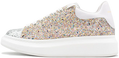 "Кроссовки Alexander McQueen Oversized Lace-Up Glitter Leather ""Multicolor"", 40"