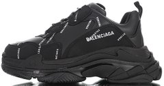 Кроссовки Balenciaga Triple S Allover Logo Black, 45