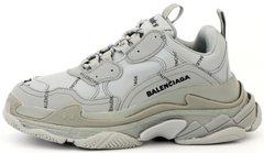 Женские кроссовки Balenciaga Triple S Allover Logo Gray, 40