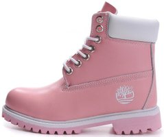 "Женские ботинки Timberland Waterproof ""Pink/White"" без меха, 40"