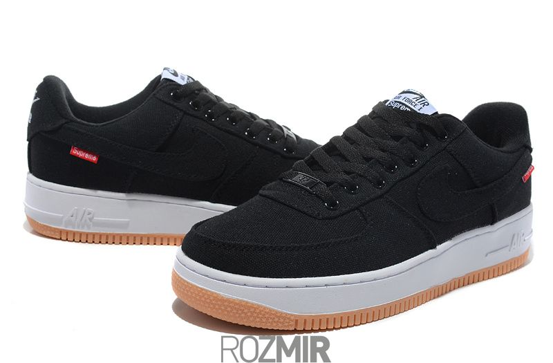 8529307e Мужские кроссовки SUPREME x Nike Air Force 1 Low Premium AF1 Black ...