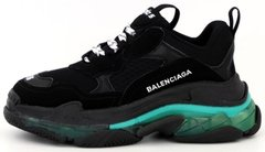 Кроссовки Balenciaga Triple S Clear Sole Black Turquoise, 40