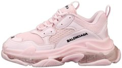 Женские кроссовки Balenciaga Triple S Clear Sole Pink, 40