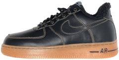 "Зимние кроссовки Nike Air Force 1 Low Leather ""Black/Gum"" с мехом, 45"