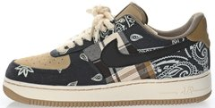 "Кроссовки Travis Scott x Nike Air Force 1'07 Low ""White/Brown-Black"", 45"