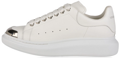 "Женские кроссовки Alexander McQueen Oversized ""White/Metal Toe"", 40"
