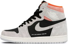 "Кроссовки Air Jordan 1 Retro High OG ""Neutral Grey / Black - Hyper Crimson - White"", 45"