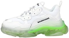 Женские кроссовки Balenciaga Triple S White/Light Green Clear Sole , 40