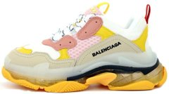 "Женские кроссовки Balenciaga Triple S Trainers Clear Sole ""White/Yellow"", 40"