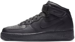 "Зимние кроссовки Nike Air Force 1 High Leather Fur ""Black"" с мехом, 43"