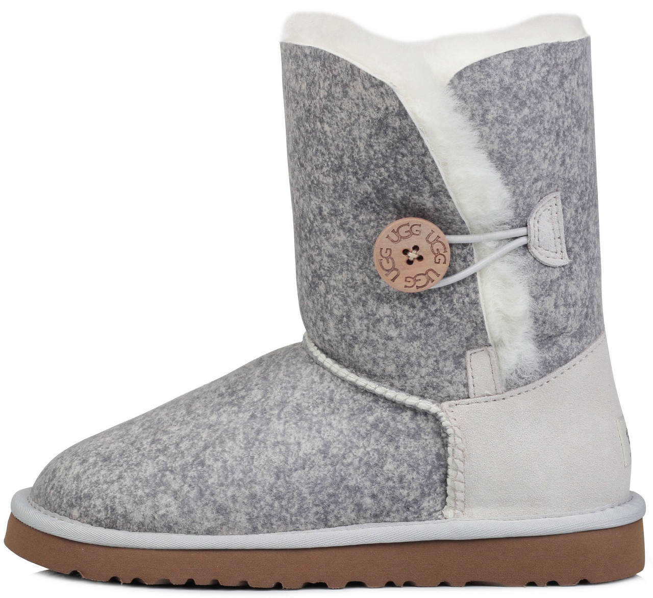 "Женские угги UGG Bailey Button Ripple ""Lite Grey"", 40"