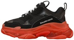 "Женские кроссовки Balenciaga Triple S Sneaker Clear Sole ""Black/Red"", 38"