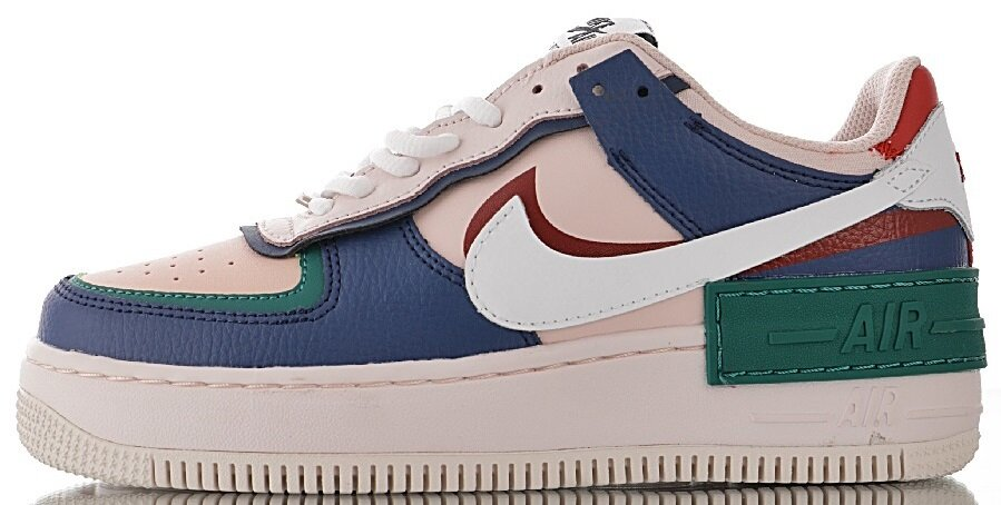 "Женские кроссовки Nike Air Force 1 Low Shadow ""Mystic Navy / White - Echo Pink - Gym Red"" CI0919-400, 40"