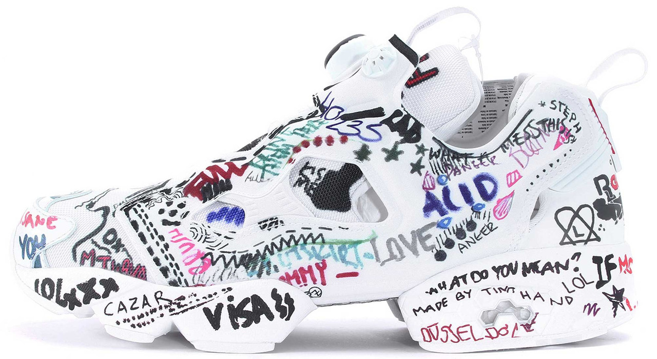 "Кроссовки Vetements x Reebok InstaPump Fury ""Graffiti"", 45"