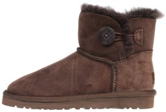 "Женские угги UGG Mini Bailey Button ""Chocolate"", 41"