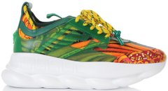 Женские кроссовки Versace Chain Reaction Navy / Green / Yellow / White, 40