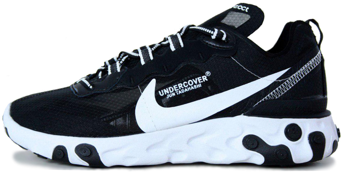 c07c785c Мужские кроссовки Nike React Element 87 Undercover Black White AQ1813-33 ...