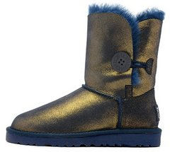 "Женские угги UGG Bailey Button Metallic ""Gold/Blue"", 39"