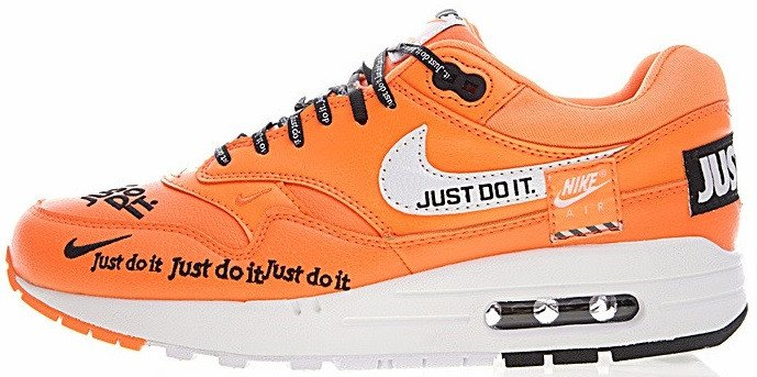 "Мужские кроссовки Nike Air Max 1 Lux ""Just Do It"" Orange 917691-800, 44"