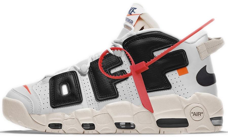 Мужские кроссовки Off White x Nike Air More Uptempo Белый V919 ... 03cef2a13d5c5