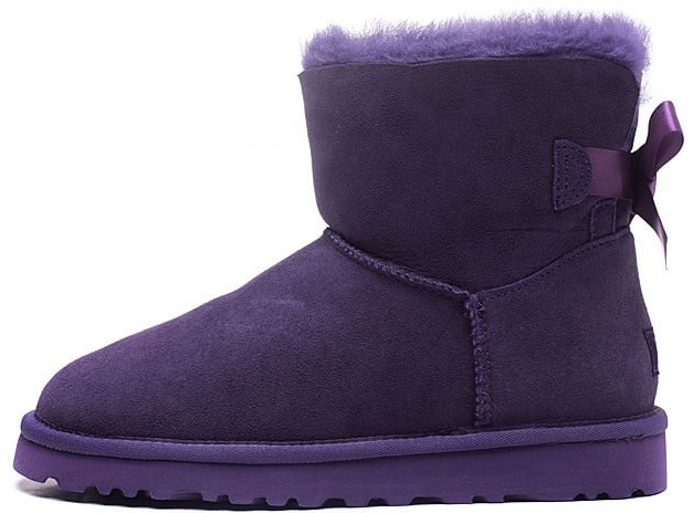 "Женские угги UGG Mini Bailey Bow ""Purple"", 40"