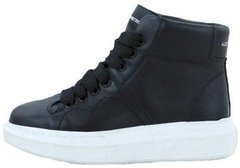 "Женские кроссовки Alexander McQueen Larry Leather High Top ""Black"", 40"