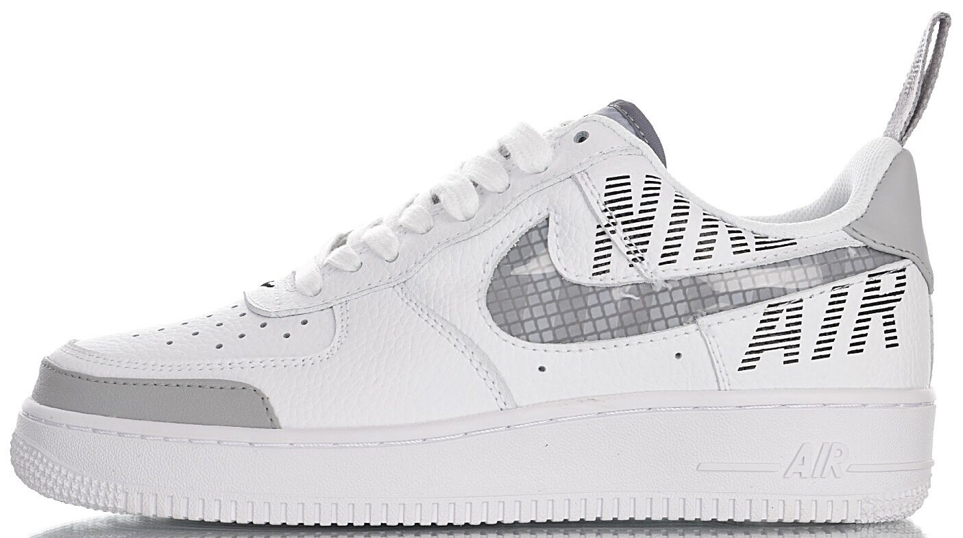 "Мужские кроссовки Nike Air Force 1 Low Under Construction ""White/Wolf Grey-Black"" BQ4421-100, 45"