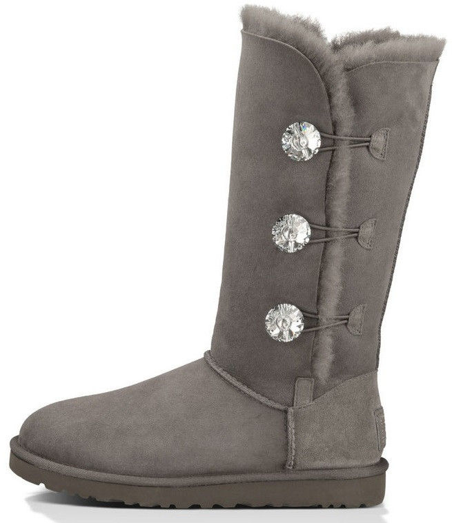 "Женские угги UGG Bailey Button Bling Triplet ""Grey"", 36"