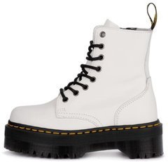 Женские ботинки Dr. Martens Jadon Platform Boots White Polished Smooth 15265100 с мехом, 37