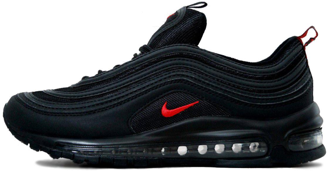 мужские кроссовки Nike Air Max 97 Blackred черный D1413 купить в
