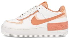 "Женские кроссовки Nike Air Force 1 Shadow ""Summit White / Pink Quartz - Washed Coral"" CJ1641-101, 40"