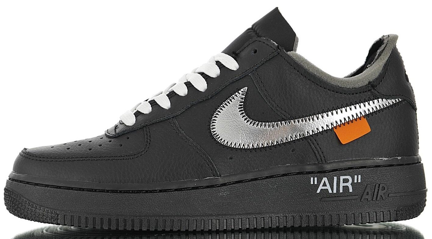 "Кроссовки OFF-WHITE x Nike Air Force 1 '07 Virgil x MoMA ""Black"", 39"