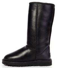 "Женские угги UGG Classic Tall Leather ""Black"", 41"