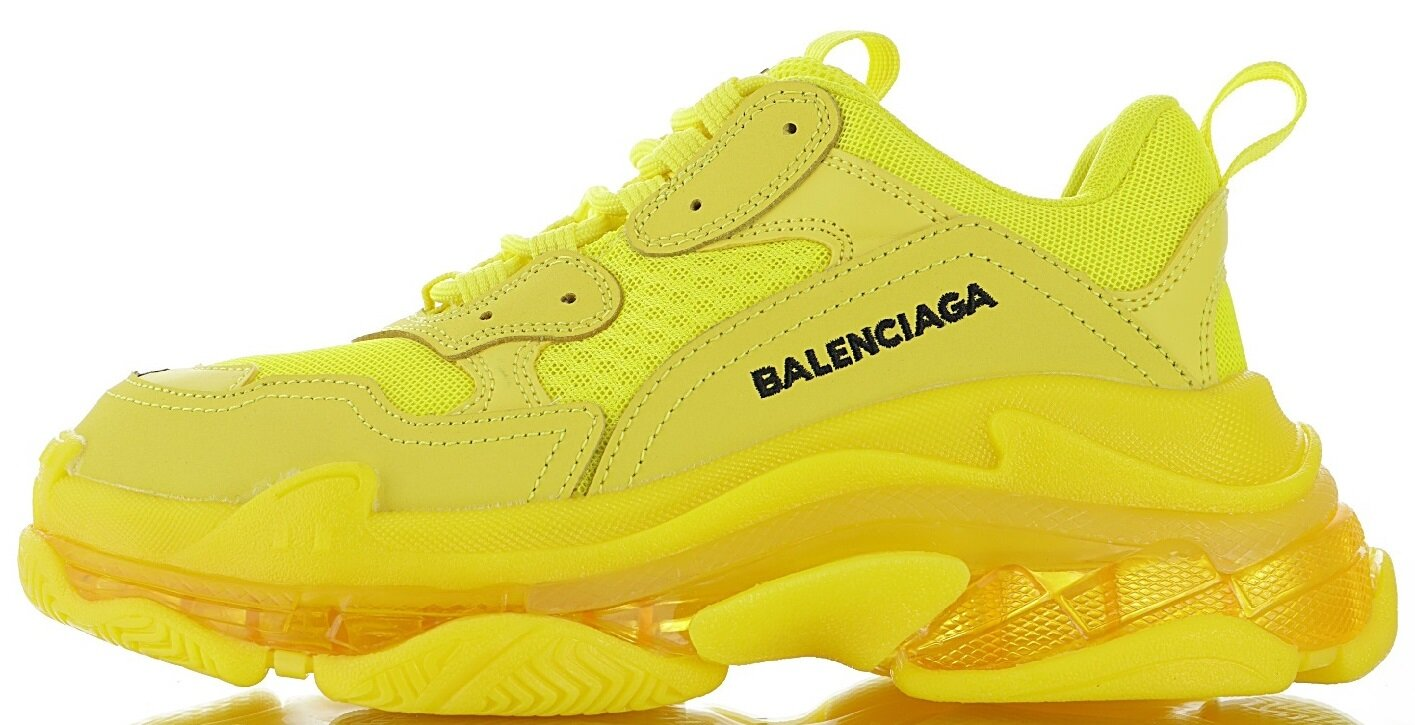 Кроссовки Balenciaga Triple S Yellow Clear Sole
