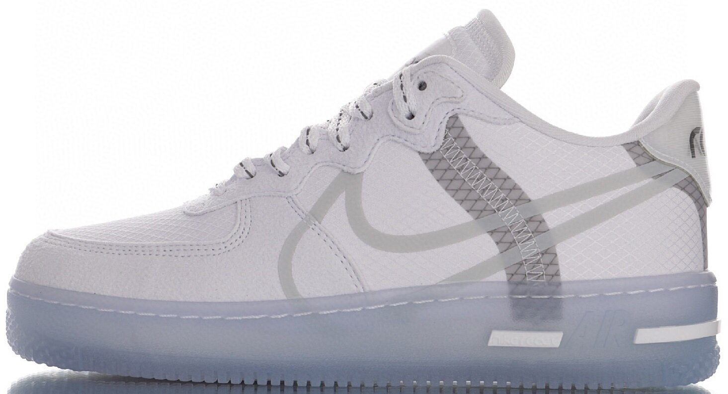 "Кроссовки Nike Air Force 1 React D/MS/X QS ""White Light Bone"", 45"