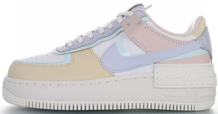 "Женские кроссовки Nike Air Force 1 Shadow ""Summit White/Glacier Blue/Fossil/Ghost"" CI0919-106, 40"