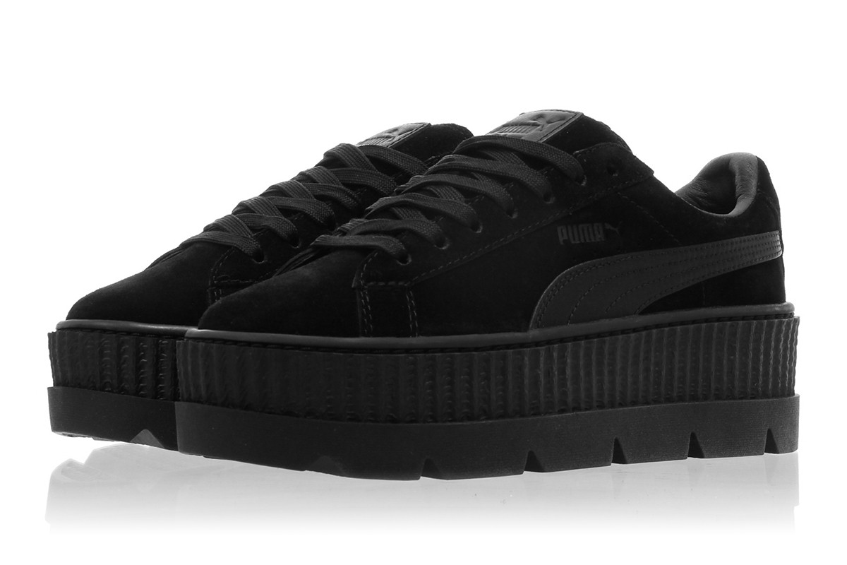 "Женские кроссовки Rihanna x Puma Fenty Suede Cleated Creeper ""Black"""