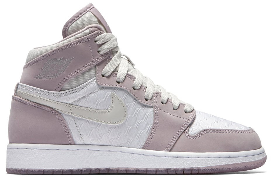 "Женские кроссовки Air Jordan 1 Retro High GS Heiress ""Plum Fog"", 40"