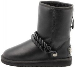 "Женские угги UGG Classic Short Metallic Chain ""Black"", 41"