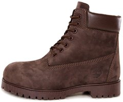 "Мужские ботинки Timberland 6-Inch Premium Winter Boots ""Brown"" с мехом, 45"
