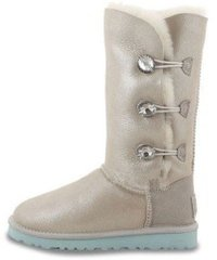 "Женские угги UGG Bailey Button Triplet Bling I DO! ""White"", 40"