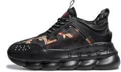 "Женские кроссовки Versace Chain Reaction ""Black Multi-Color"", 41"