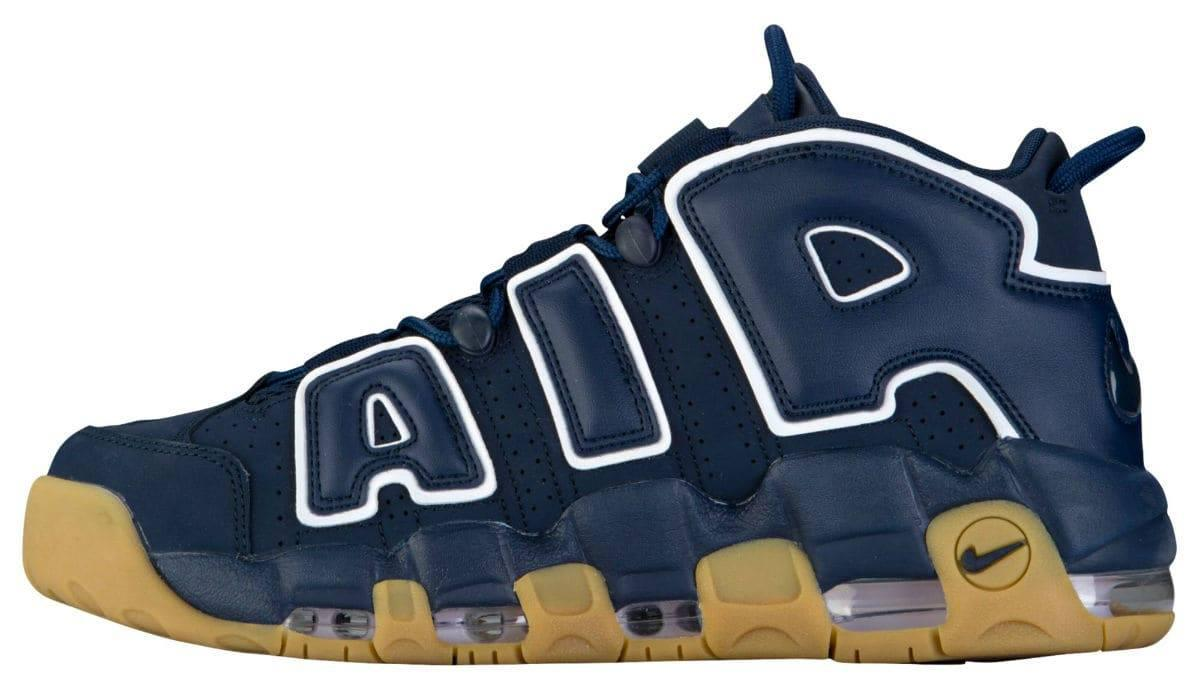 "Мужские кроссовки Nike Air More Uptempo 96 ""Obsidian/White-Gum Light Brown"", 45"