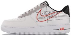 "Кроссовки Nike Air Force 1 Low Script Swoosh ""White/Black-Red"" CK9707-100, 44"