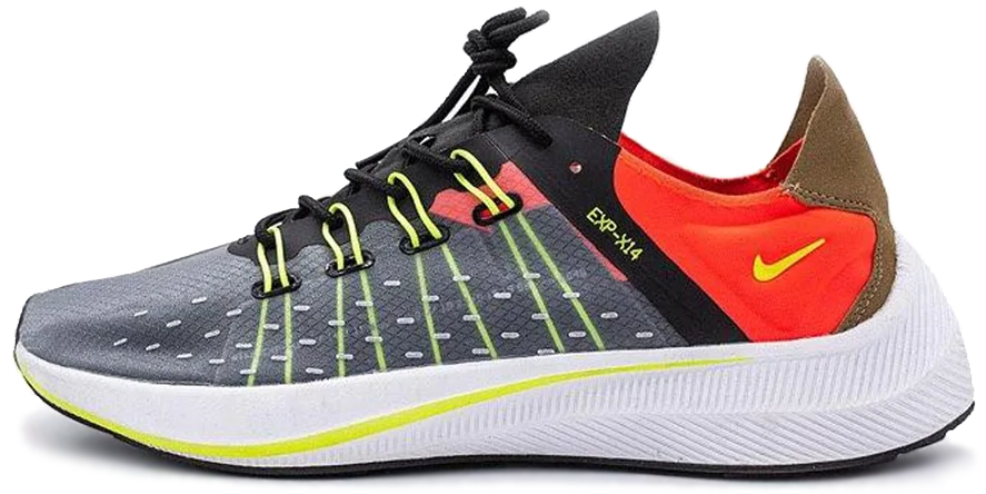 "Кроссовки Nike EXP-X14 ""Black/Volt-Total Crimson"", 45"