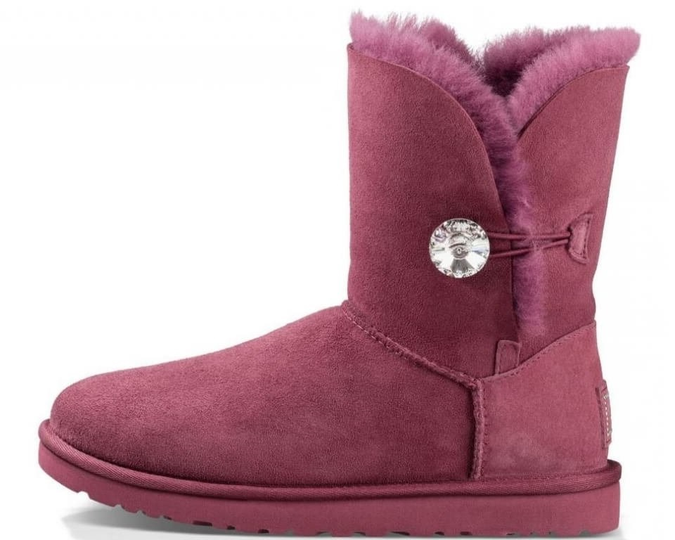 "Женские угги UGG Bailey Button Bling ""Burgundy"", 40"