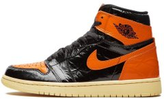 "Кроссовки Air Jordan 1 Retro High Shattered Backboard 3.0 ""Black/Pale Vanilla-Starfish"", 40"