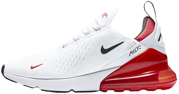 "Женские кроссовки Nike Air Max 270 ""White Black University Red"", 40"